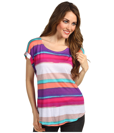 Bluze Splendid - Watercolor Stripe S/S - Sugarcane