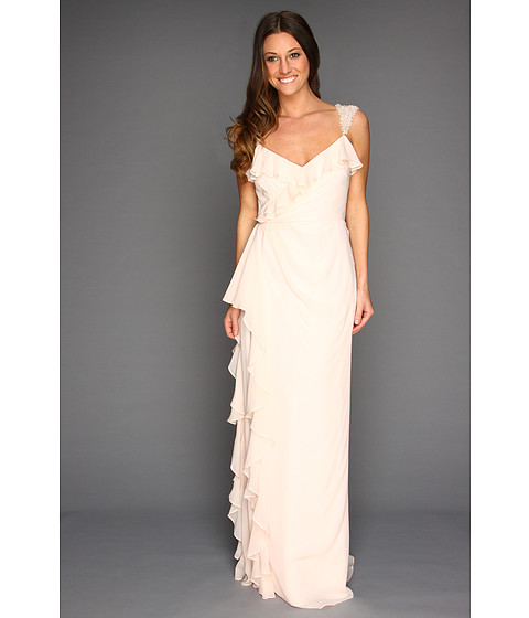 Rochii Badgley Mischka - Ruffle Gown - Blush