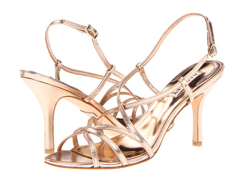 Pantofi Badgley Mischka - Ava II - Rose Gold Leather