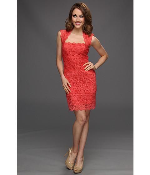 Rochii Nicole Miller - Stretch Multi Lace Dress - Watermelon