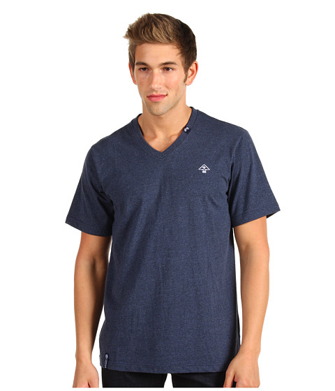 Tricouri L-R-G - Core Collection Solid Tri-Blend V-Neck Tee - Navy Heather