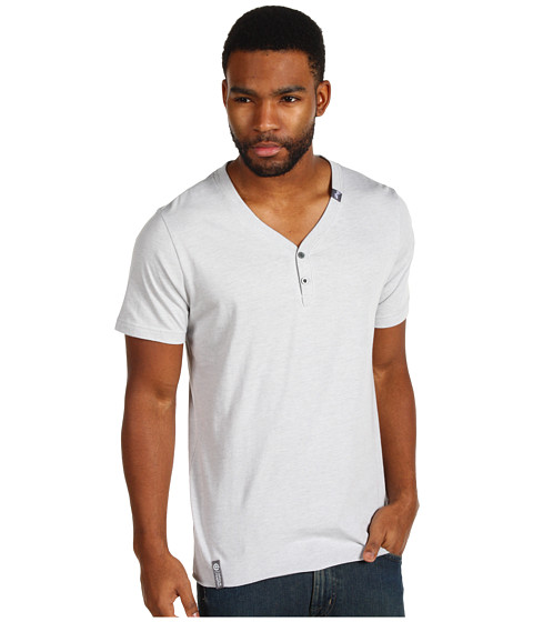 Tricouri L-R-G - Core Collection Y-Neck Tee - Light Ash Heather