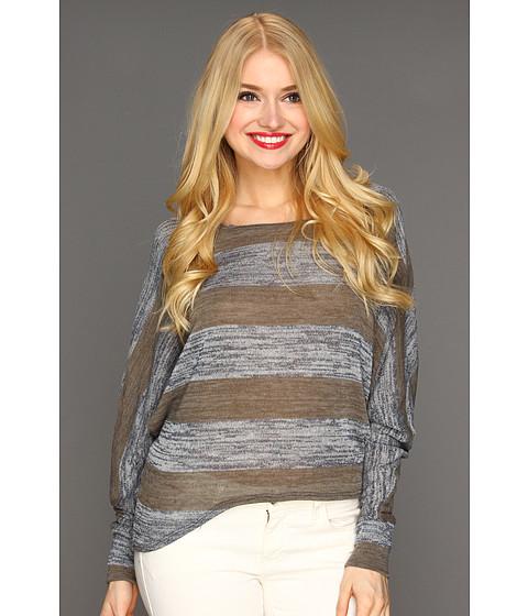 Bluze Culture Phit - Briana Stripe Top - Brown