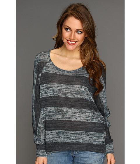 Bluze Culture Phit - Briana Stripe Top - Charcoal