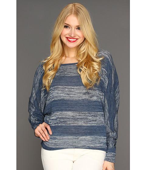 Bluze Culture Phit - Briana Stripe Top - Navy