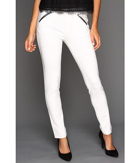 Pantaloni Catherine Malandrino - Ponte Straight Leg Pant - Blanc