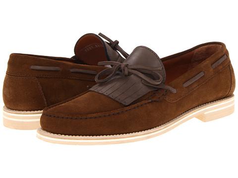 Pantofi A. Testoni - Suede Tassel Loafer - Castagno/Caramel