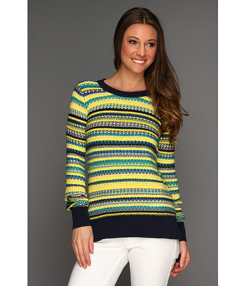 Bluze BCBGMAXAZRIA - Ananda Multistitch Pullover - Neon Yellow Combo