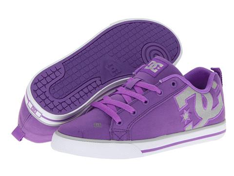 Adidasi DC - Court Graffik Vulc TX W - Purple/White