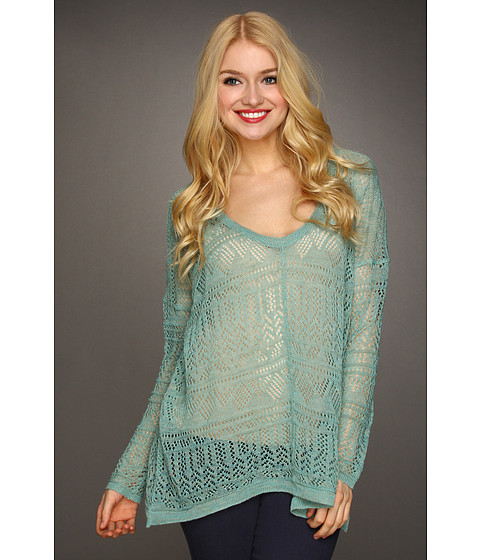 Bluze Free People - Waterfalls Pullover - Sea Green