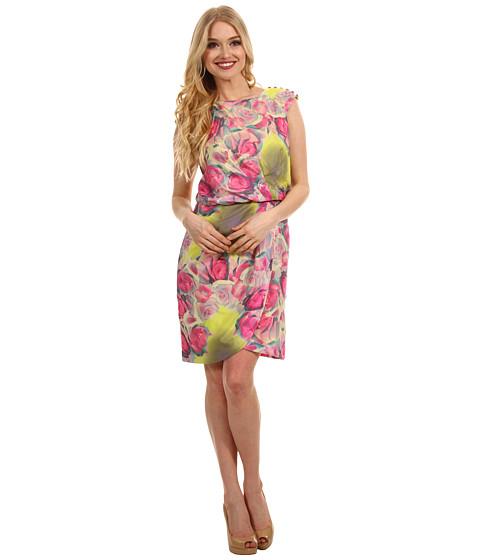 Rochii Jessica Simpson - Cap Sleeve Pleated Front Dress - Multi