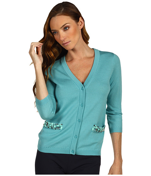 Pulovere Kate Spade New York - Hilda Cardigan With Embellishment - Dusty Turquoise