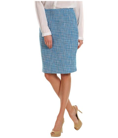 Fuste Calvin Klein - Tweed Skirt - White/Black/Cerulean
