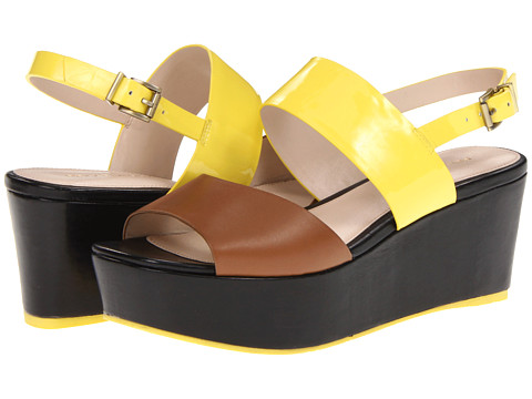 Sandale Pelle Moda - Teddy - Luggage/Lemon Patent