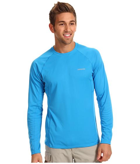 Tricouri Patagonia - L/S Fore Runner Shirt - Larimar Blue