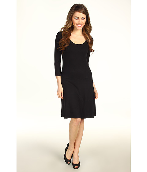 Rochii Karen Kane - 3/4 Sleeve A-Line Dress - Black