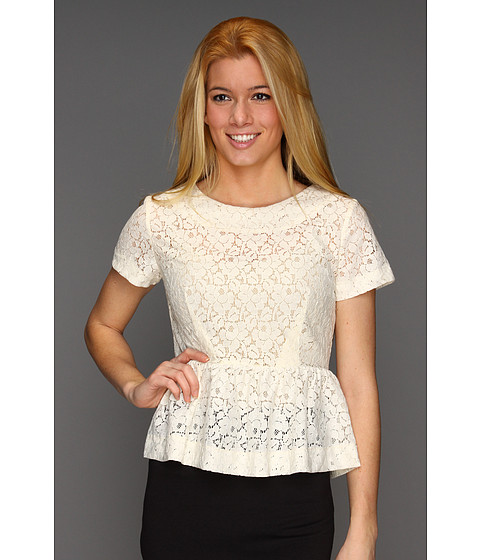 Tricouri French Connection - Mykas Lace Top - Cream