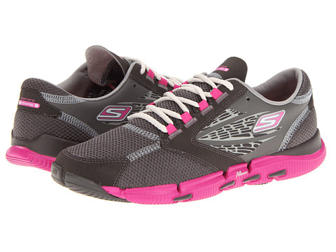 Adidasi SKECHERS - GO Bionic Ride - Charcoal/Hot Pink
