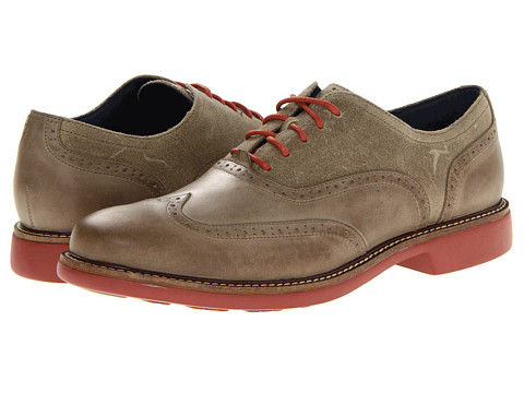 Pantofi Cole Haan - Great Jones Wingtip - Summer Khaki/Black