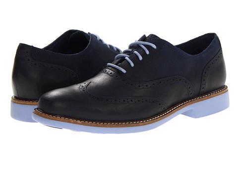 Pantofi Cole Haan - Great Jones Wingtip - Black Iris/Chambray