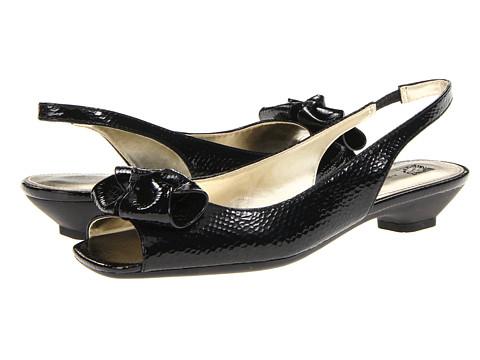 Sandale Anne Klein New York - Jest - Black Crinkle Patent