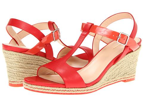 Sandale Cole Haan - Elizabeth Wedge - Cherry Tomato/Orange Pop Patent