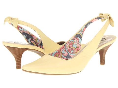 Pantofi Anne Klein New York - Ivette - Light Yellow Leather/Falena