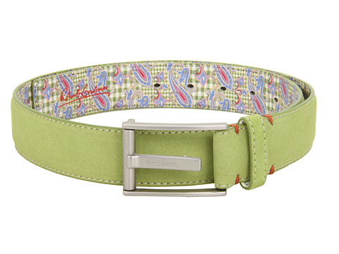 Sepci Robert Graham - Riverside Suede Leather Belt - Green