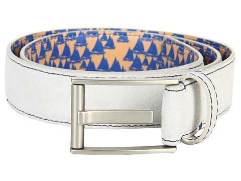 Sepci Robert Graham - Riverside Suede Leather Belt - White