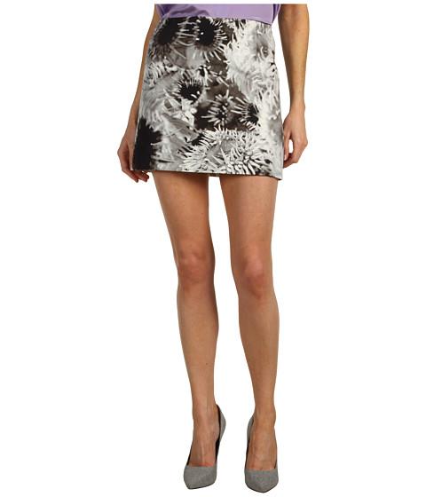Fuste Tibi - Athena on Silk Linen Mini Skirt - Black Multi