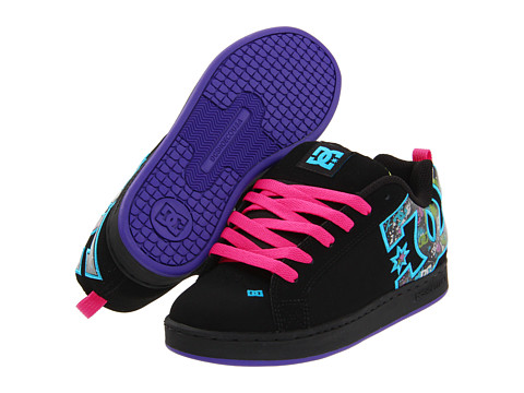 Adidasi DC - Court Graffik SE W - Black/Graffiti Print