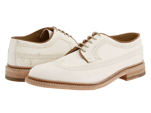 Pantofi Frye - James Wingtip - Off White/Veg Tan