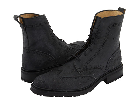 Ghete Frye - James Lug Wingtip Boot - Black