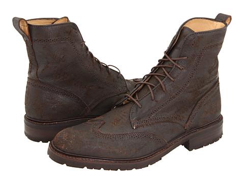Ghete Frye - James Lug Wingtip Boot - Dark Brown