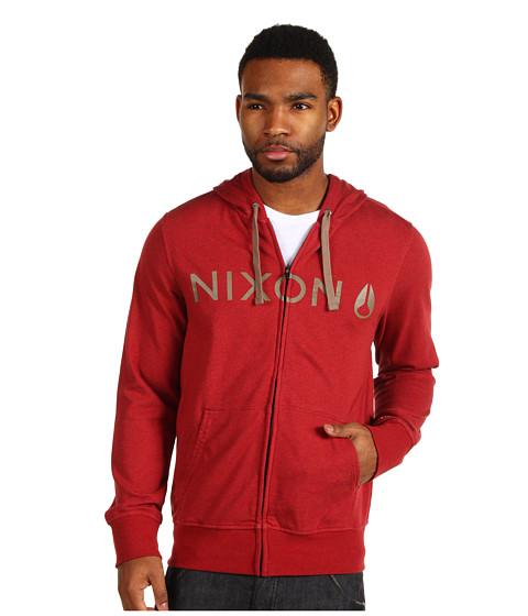 Bluze Nixon - Nexus Zip Hoodie - Dark Red Heather