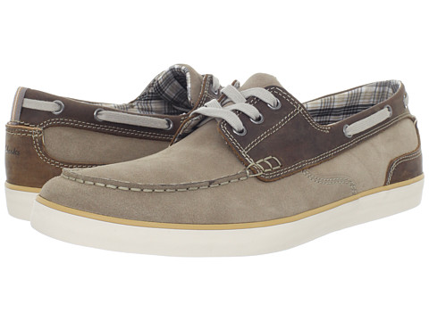 Pantofi Clarks - Jax - Brown Leather w/ Taupe Suede