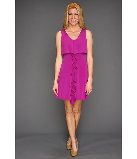 Rochii Jessica Simpson - Sleeveless Dress w/ Cascading Ruffle - Fuscha/Sap