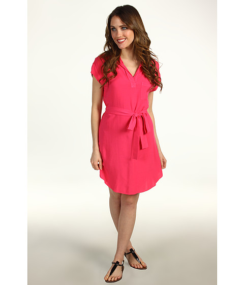 Rochii Splendid - Shirting Tie Dress - Flamingo