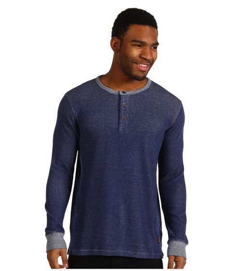 Bluze Obey - Layers Henley - Heather Indigo