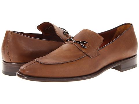 Pantofi A. Testoni - Calf Loafer with Ornament - Caramel