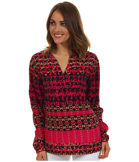 Bluze Anne Klein New York - Abstract Houndstooth Tunic - Peony Multi