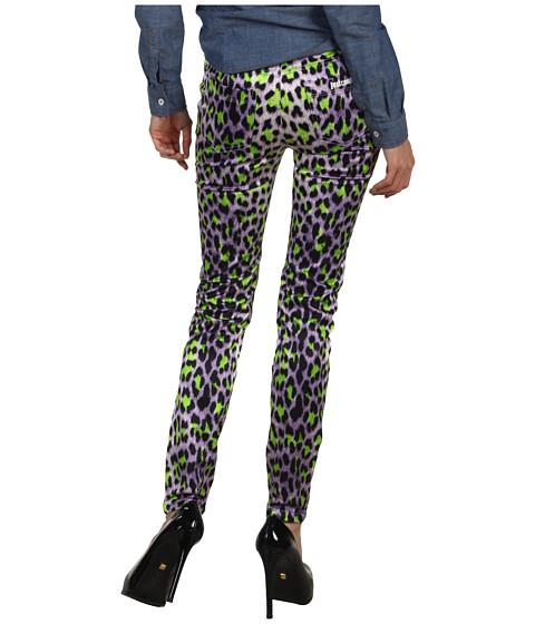 Blugi Just Cavalli - Leopard Print Skinny Jean - Violet
