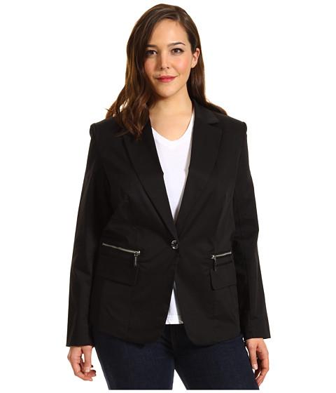 Jachete Michael Kors - Plus Size Stretch Twill 1 Button Blazer - Black