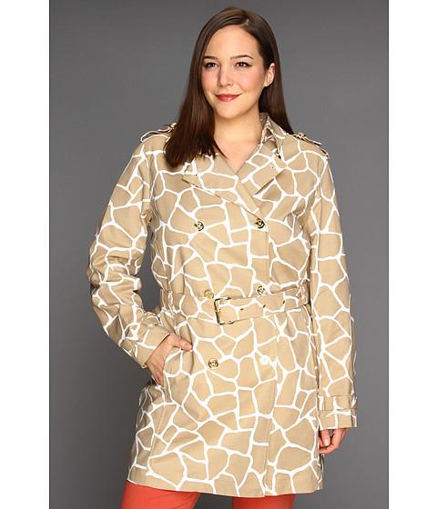 Jachete Michael Kors - Plus Size Small Mod Giraffe Classic Trenchcoat - Khaki