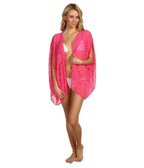 Lenjerie Steve Madden - Hot And Holey Kimono Shrug - Pink