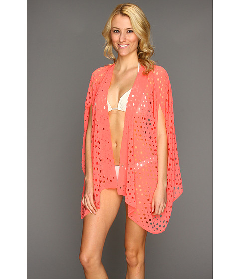 Rochii elegante: Rochie Steve Madden - Hot And Holey Kimono Shrug - Coral