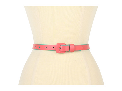 Curele Lodis Accessories - Audrey Square Covered Buckle Pant Belt - Coral