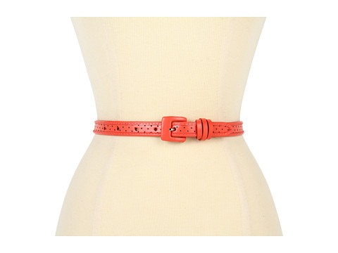 Curele Lodis Accessories - Catalina Square Covered Buckle Pant Belt - Coral