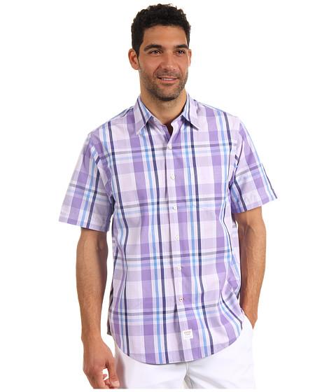 Tricouri IZOD - Large Plaid Short Sleeve Saltwater Poplin - Dahlia Purple