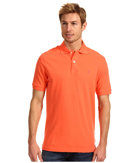 Tricouri IZOD - Short Sleeve Heritage Basic Pique Polo - Living Coral